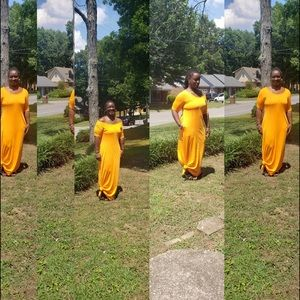 Dresses & Skirts - Long Orange Maxi Dress